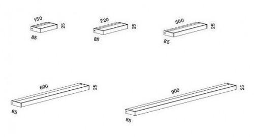 Serien Lighting Spiegeladapter Set für SML2 Wall