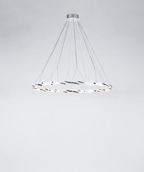 Serien Lighting Zoom LED 1 Element Edelstahl gebürstet
