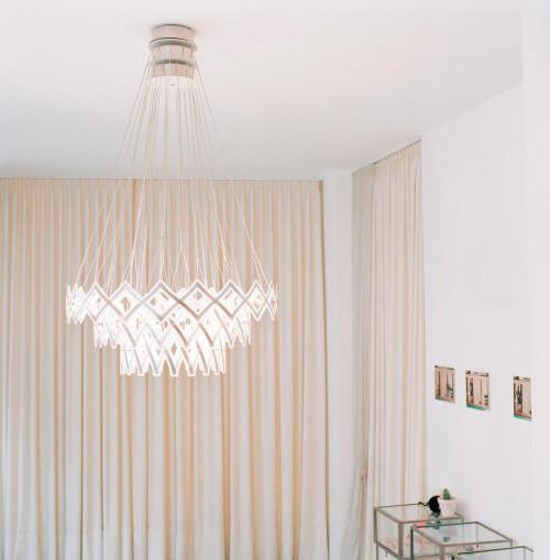 Serien Lighting Zoom LED 3 Elemente Edelstahl gebürstet