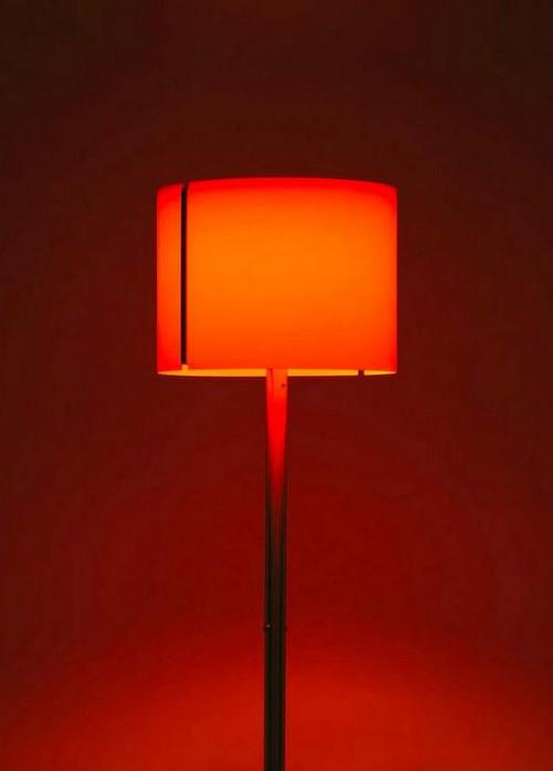 Serien Lighting Jones 45 cm mit orangem Glaseinsatz