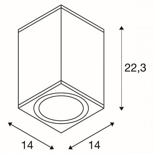 SLV Enola Square L CL Grafik