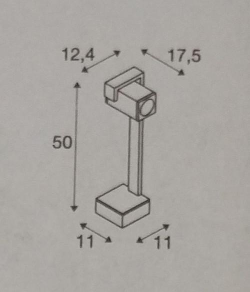 SLV Theo Bracket Pole Grafik Höhe 50 cm