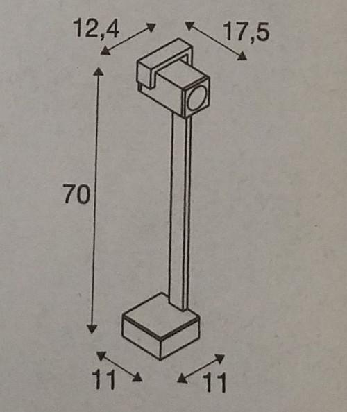 SLV Theo Bracket Pole Grafik Höhe 70 cm