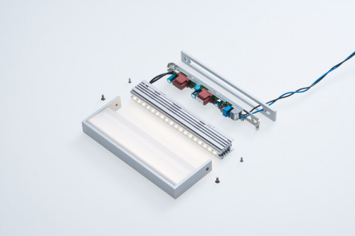 Abdeckplatte für SML LED Small silber
