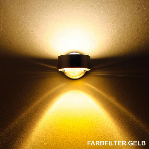 Top Light Puk Wall mit Farbfilter gelb