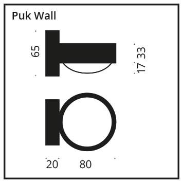 Top Light Puk Wall Halogen Glas/Glas Grafik