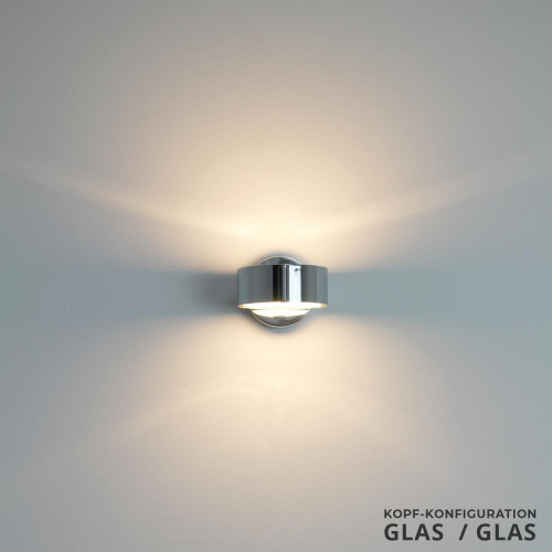 Top Light Puk Wall Halogen Glas/Glas Chrom