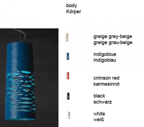 Foscarini Tress Sospensione Piccola indigoblau und Farben