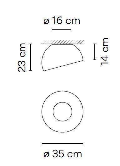 Vibia Duo 4876, 35 cm graphic