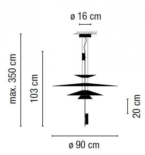 Vibia Flamingo 1550 Grafik