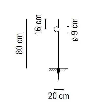 Vibia June 4770 mit Erdspieß Grafik
