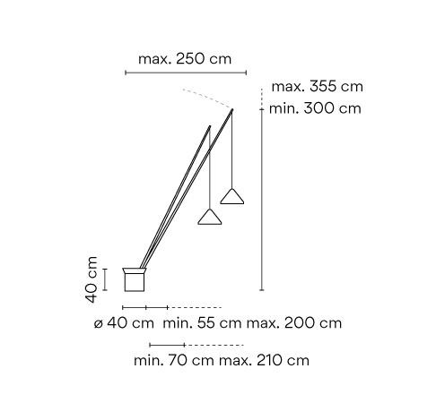 Vibia North 5600 Grafik