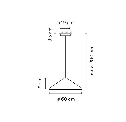 Vibia North 5664, Durchmesser 60 cm Grafik