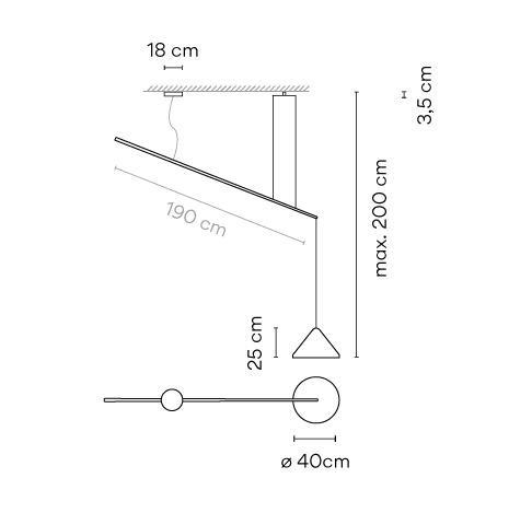 Vibia North 5672, Durchmesser 40 cm Grafik