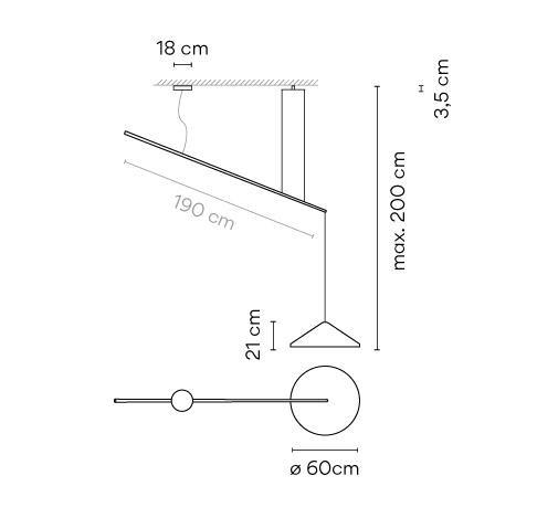 Vibia North 5674, Durchmesser 60 cm Grafik