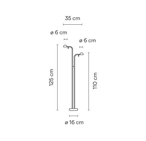 Vibia Pin 1665 Grafik