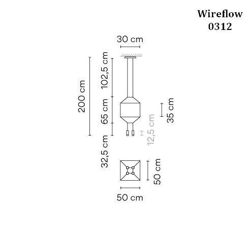 Vibia Wireflow 0312 Grafik