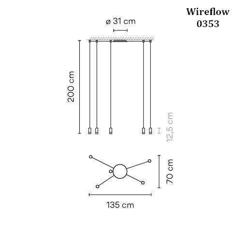 Vibia Wireflow 0353 Grafik