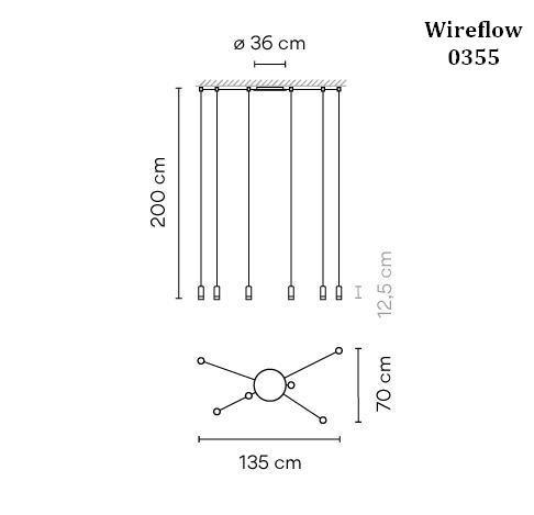 Vibia Wireflow 0355 Grafik