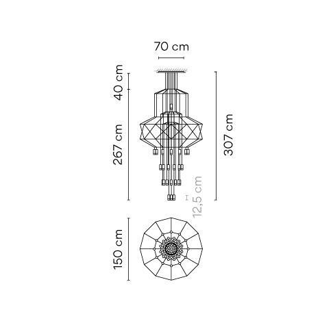 Vibia Wireflow 0374 Grafik