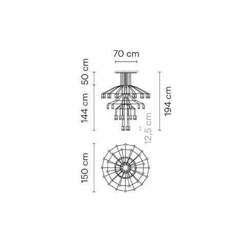 Vibia Wireflow 0377 Grafik