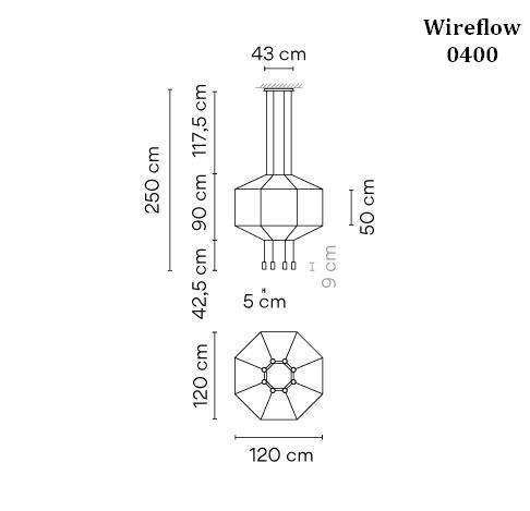 Vibia Wireflow 0400 Grafik