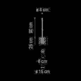 Vibia Bamboo 4803 für festen Einbau Grafik