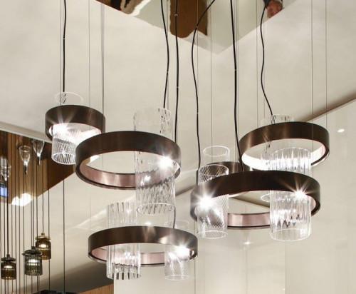 Vistosi Armonia SP 50 Version 1, Gläser Kristall/Kristall, Ring schwarz/Kupfer (unten links und rechts)