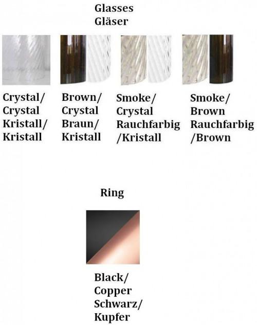 Vistosi Armonia SP 50 Versionen, Ring schwarz/Kupfer