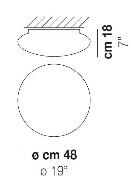 Vistosi Bianca PL 48 cm Grafik