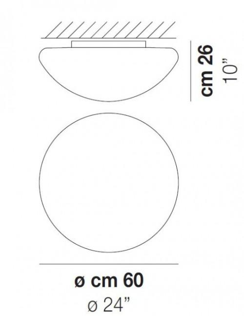 Vistosi Bianca PL 60 cm Grafik