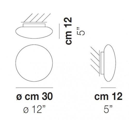 Vistosi Bianca PP 30 cm Grafik