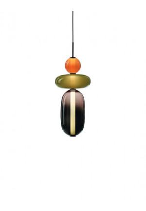 Bomma Pebbles Pendant Small Configuration 1-2 Version 1 schwarz-rot