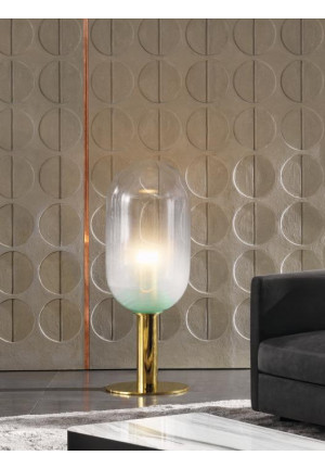 Bomma Phenomena Floor Capsule Nickel, Glasfarbe rauchgrau