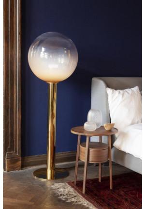 Bomma Phenomena Floor Large Ball Nickel, Glasfarbe rauchgrau