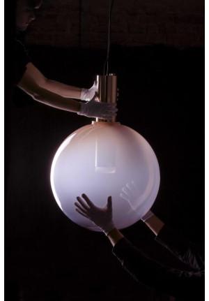 Bomma Phenomena Pendant Large Ball rauchgrau, Aufhängung Nickel