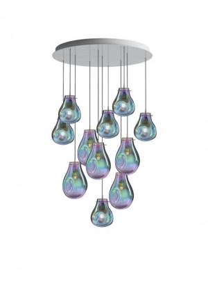Bomma Soap Kronleuchter mit 11 Leuchten silber
