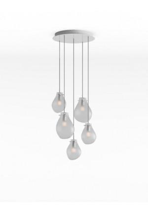 Bomma Soap Kronleuchter mit 5 Leuchten silber