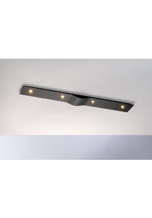 Bopp Wave rechteckig 4-flammig aluminium