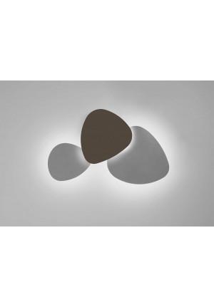 Bover Tria Set 3 äußeren Elemente weiß, mittleres Element Eiche Natur