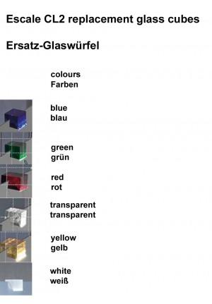 Escale CL2 Ersatz-Glaswürfel Farben