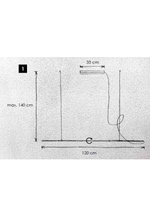 Escale Slimline Pendelleuchte 120 cm Ersatzteil