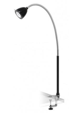 Less'n'more Athene Klemmleuchte groß A-KL2 Aluminium, flexibler Arm Textil schwarz