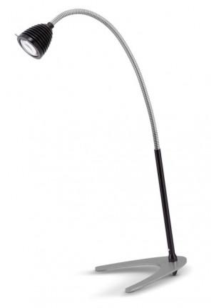 Less'n'more Athene Tischleuchte groß A-TL2 Aluminium, flexibler Arm Textil schwarz