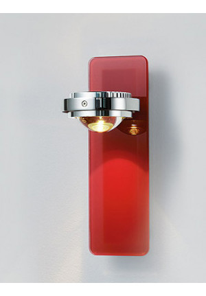 Licht im Raum Ocular Wall Wandleuchte Glas LED rot