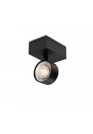 Mawa Wittenberg 4.0 Deckenleuchte asymmetrisch LED Version 2, schwarz mit Leuchtenkopf schwarz