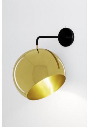 Nyta Tilt Globe Wall Brass ohne Kabel