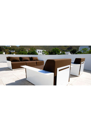 Radius Design - Loungesystem 4 Inside & Out sand, 1 Element