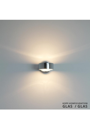 Top Light Puk Wall Glas/Glas Chrom