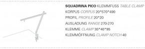 Byok Squadrina Pico Tischklemme Grafik